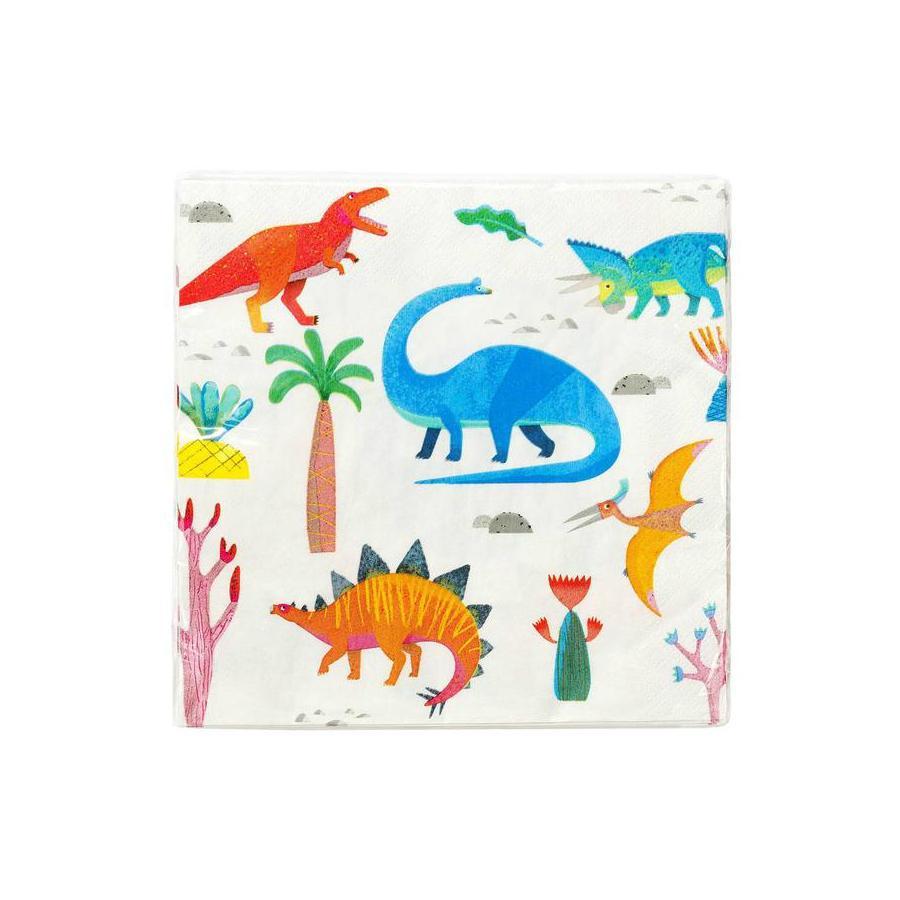 Imagen del producto: 20 servilletas de dinosaurio
