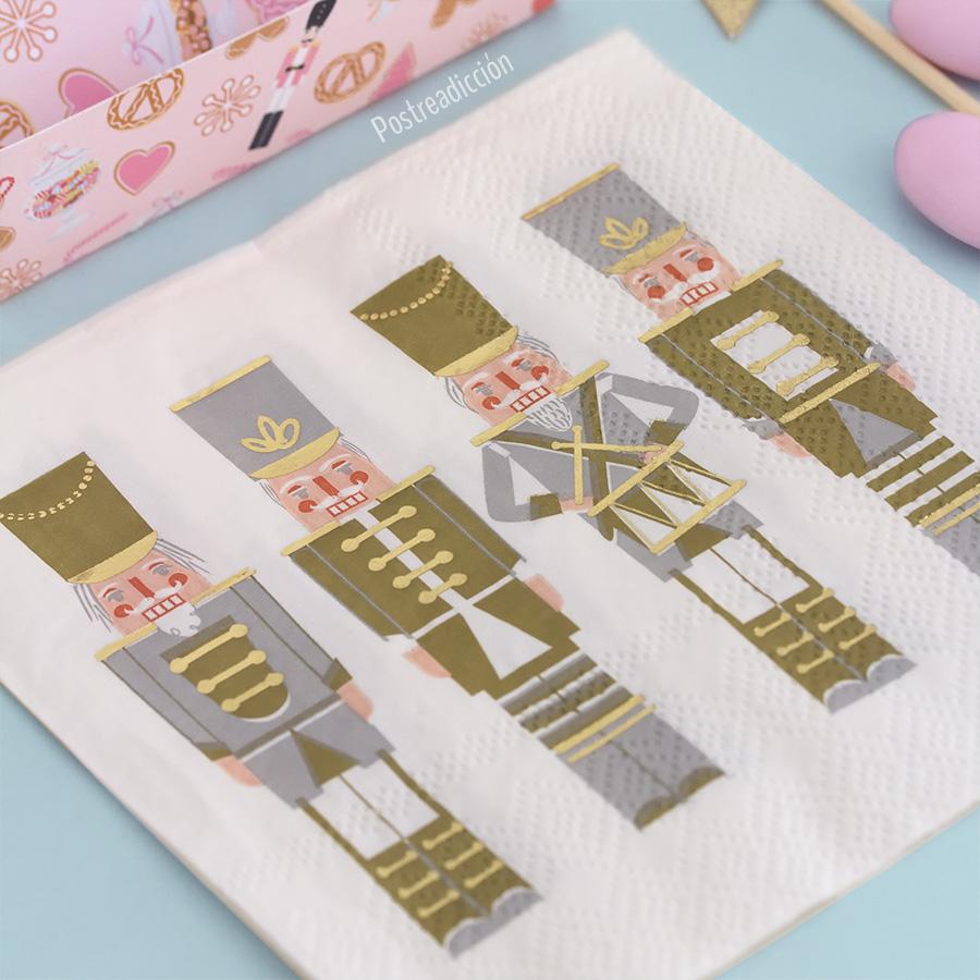 Imagen del producto: 20 servilletas de Cascanueces con foil