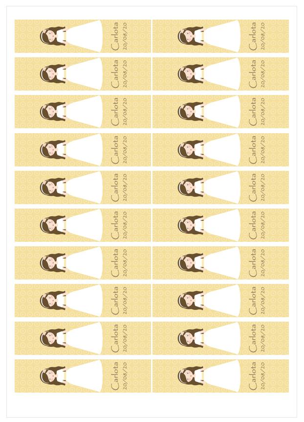 Imagen del producto: Modelo nº 1677: Niña de comunión Carlota para barritas