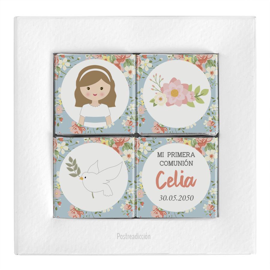 Imagen del producto: 4 cajitas con 4 napolitanas de comunión Celia