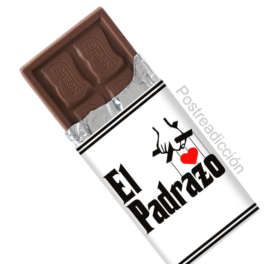 """Imagen del producto: 4 chocolatinas de """"El Padrazo"""""""