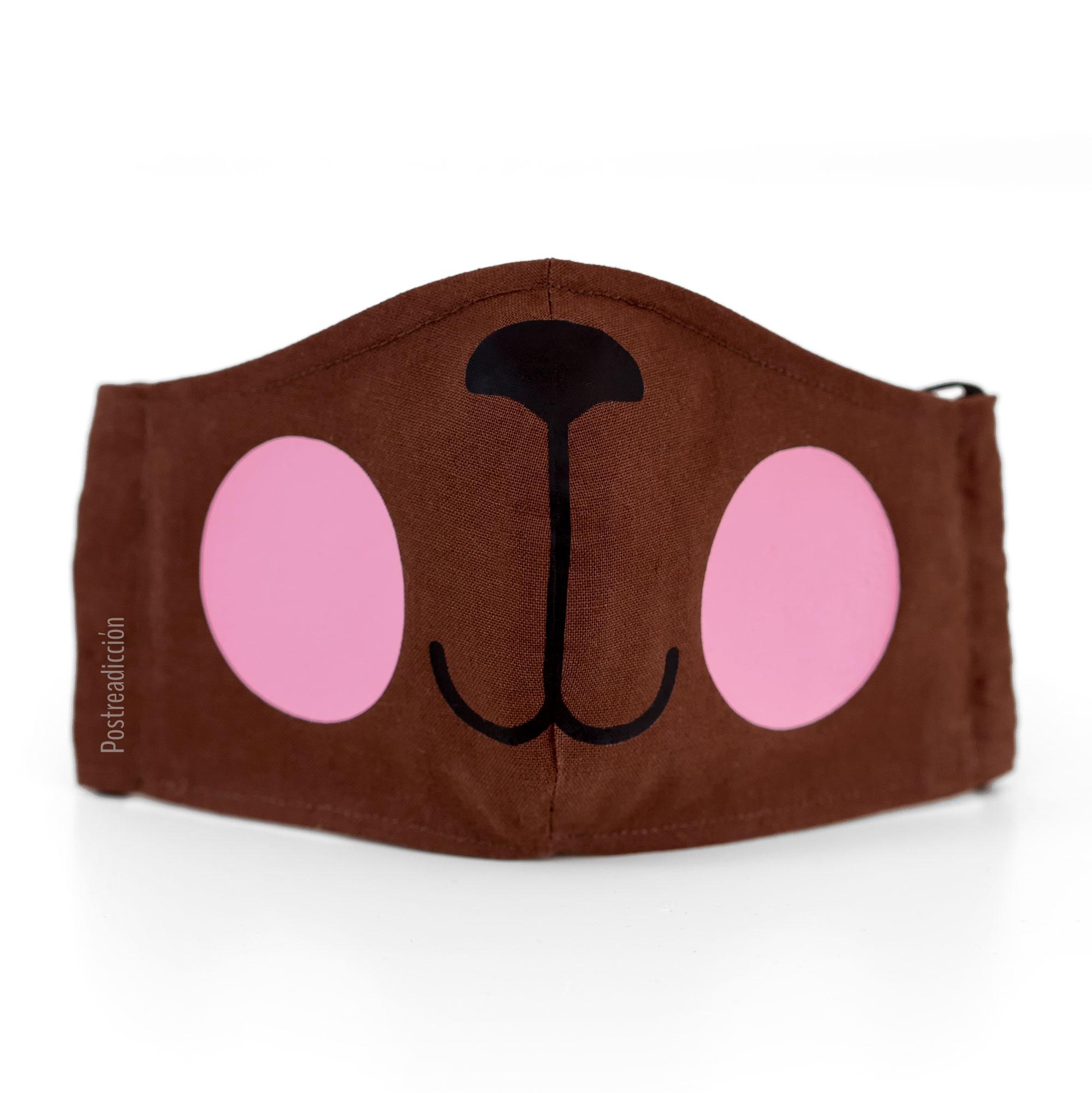 Imagen del producto: Mascarilla osito marrón