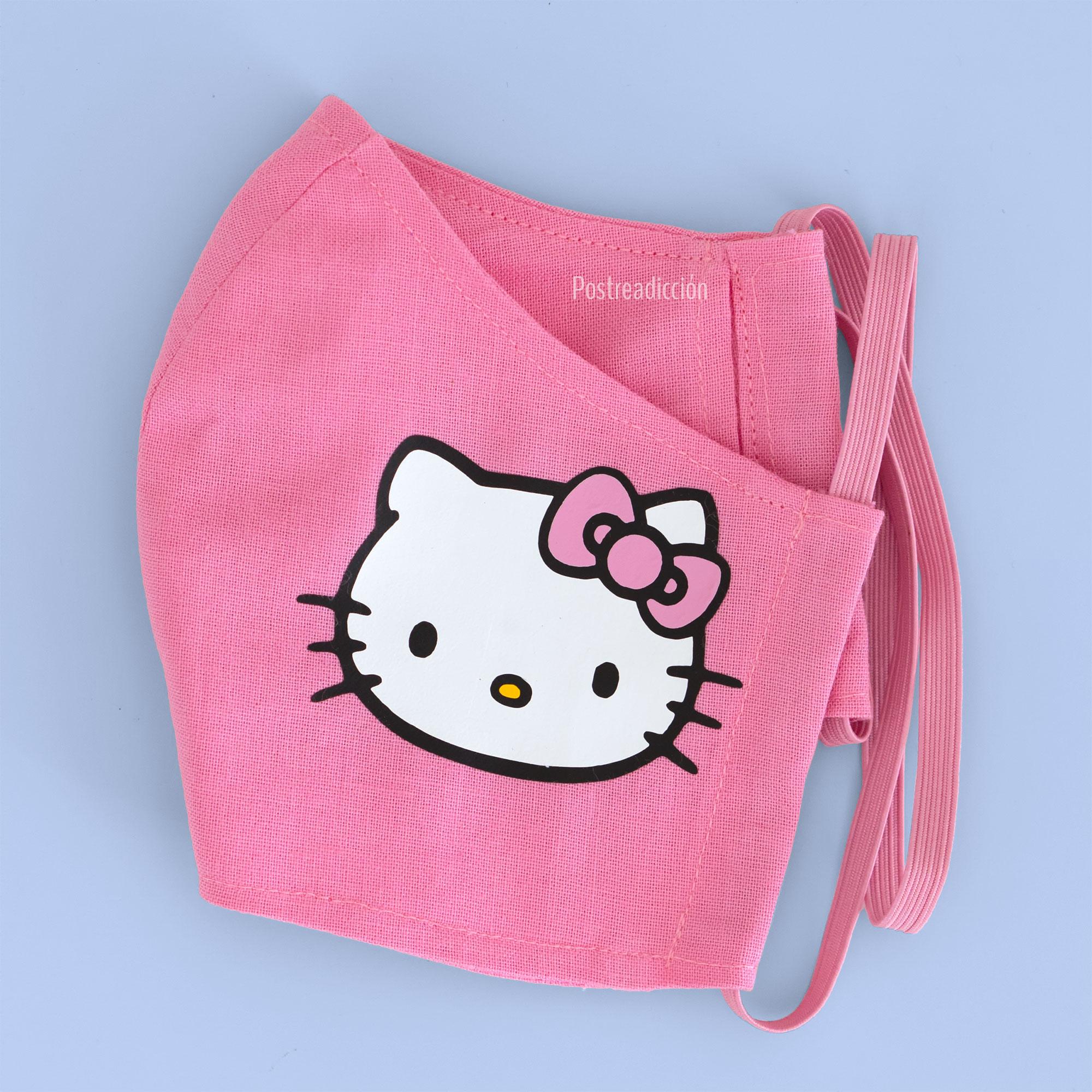Imagen del producto: Mascarilla con Hello Kitty en vinilo textil