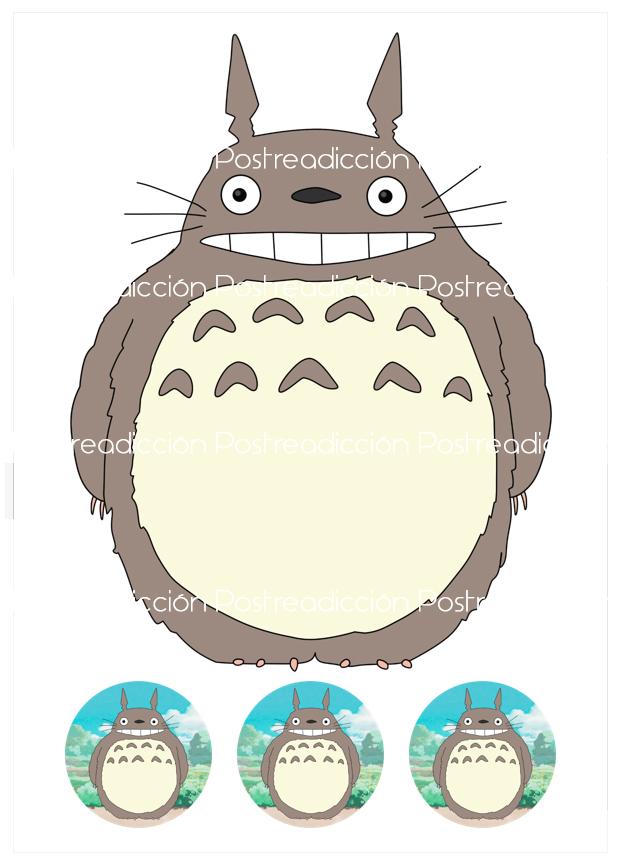 Imagen del producto: Modelo nº 1715: Totoro para tarta