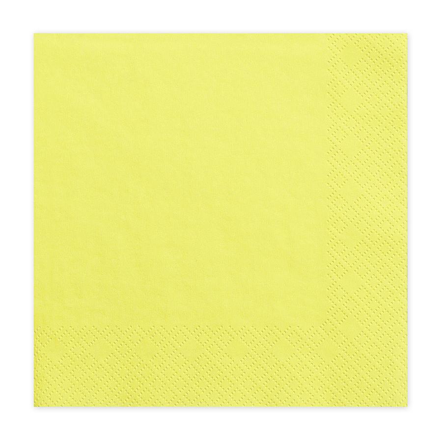 Imagen del producto: 20 servilletas amarillas