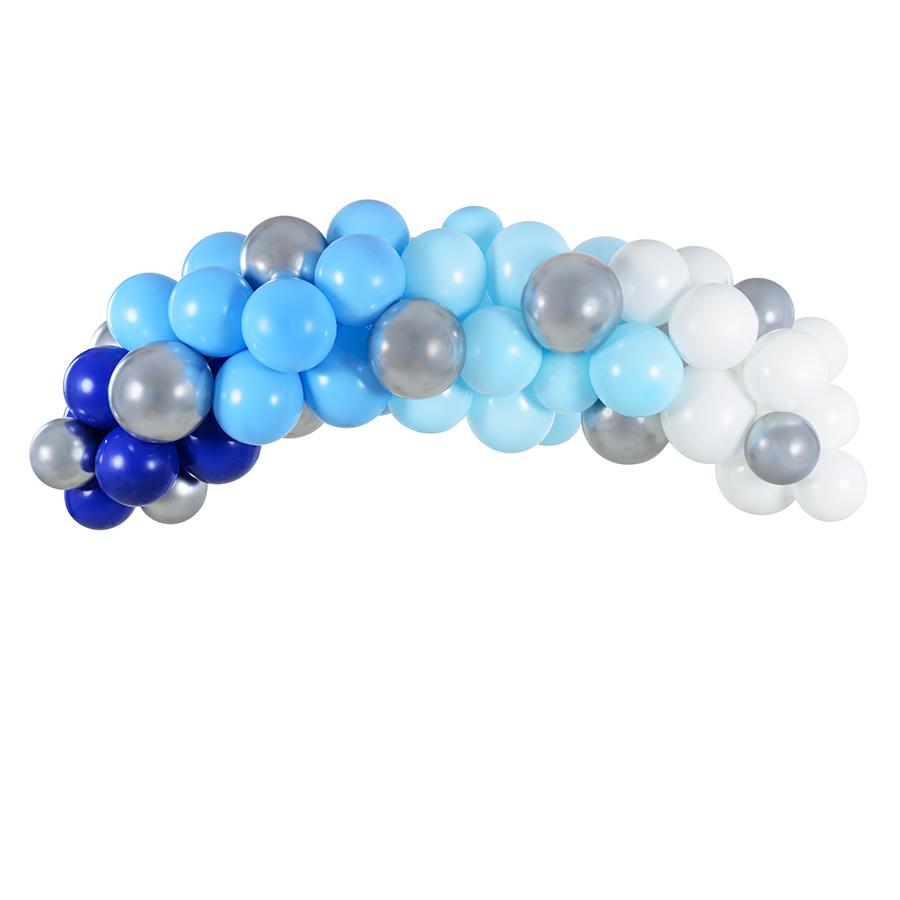 Imagen del producto: Guirnalda de globos - azul y plateado