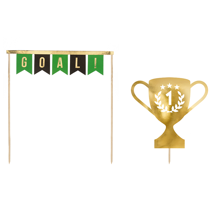 Imagen del producto: 2 toppers de fútbol para tarta