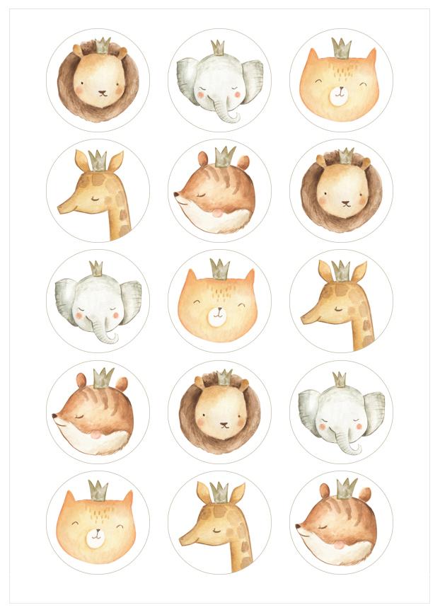 Imagen del producto: Modelo nº 1885: Animales de acuarela